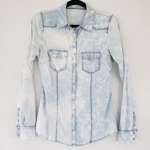 Maurices Snap Shirt - Acid Wash Shirt - Size Small